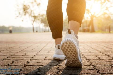 What happens to the body when you walk 10,000 steps a day?