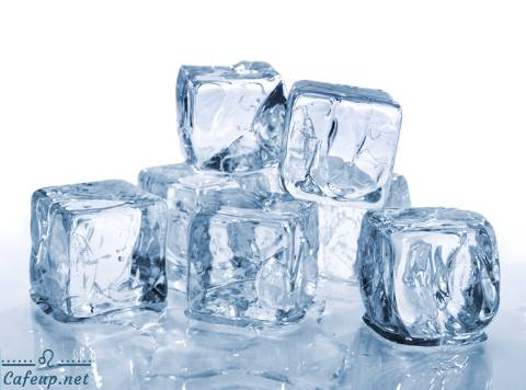 Cool summer skincare with ice